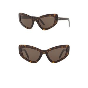 NWT ⭐️  Prada Havana 55mm Cat Eye Sunglasses